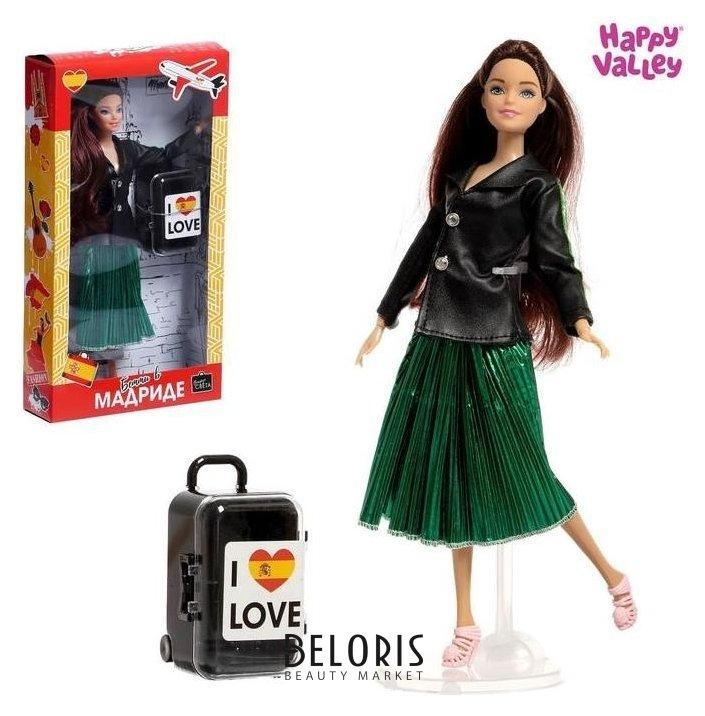 Кукла с чемоданом «Бэтти в мадриде», серия вокруг света Happy Valley