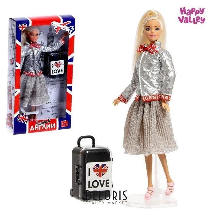 Кукла с чемоданом «Сандра в англии», серия вокруг света Happy Valley