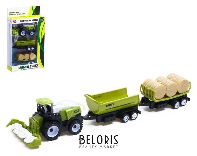 Трактор инерционный «Комбайн», с 2 видами прицепа NNB