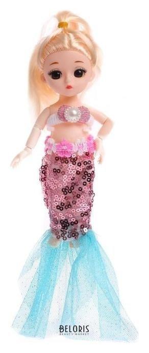 Кукла модная шарнирная «Русалочка» с аксессуарами NNB