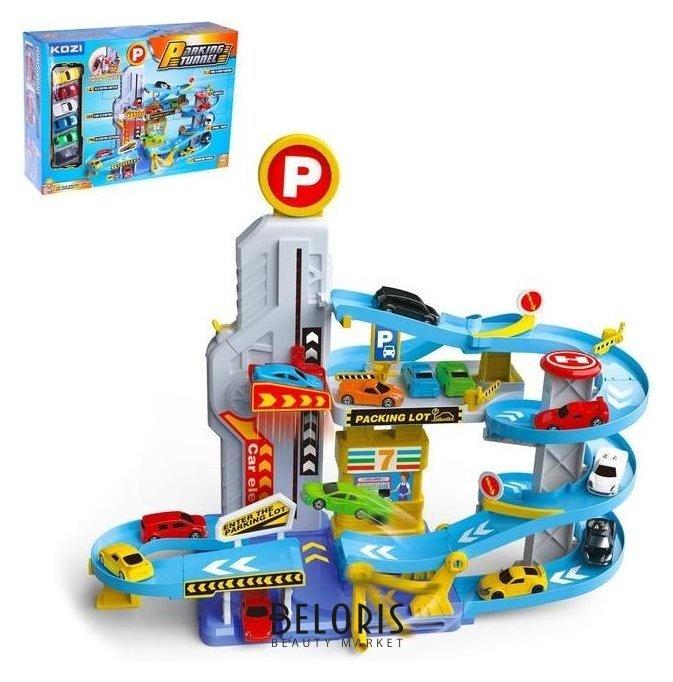 Парковка «Город» с 6 машинками и лифтом, свет и звук NNB
