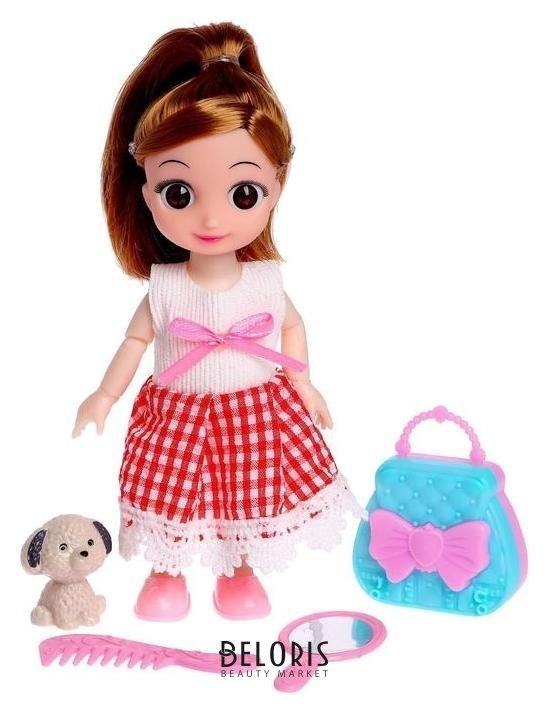 Кукла малышка шарнирная «Милана» с питомцем и аксессуарами NNB