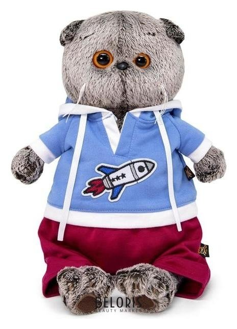 Мягкая игрушка «Басик в футболке с ракетой», 22 см Басик и Ко