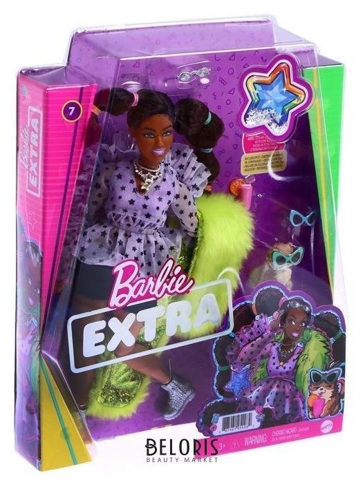 Кукла барби «Экстра», с переплетенными резинками хвостиками Mattel