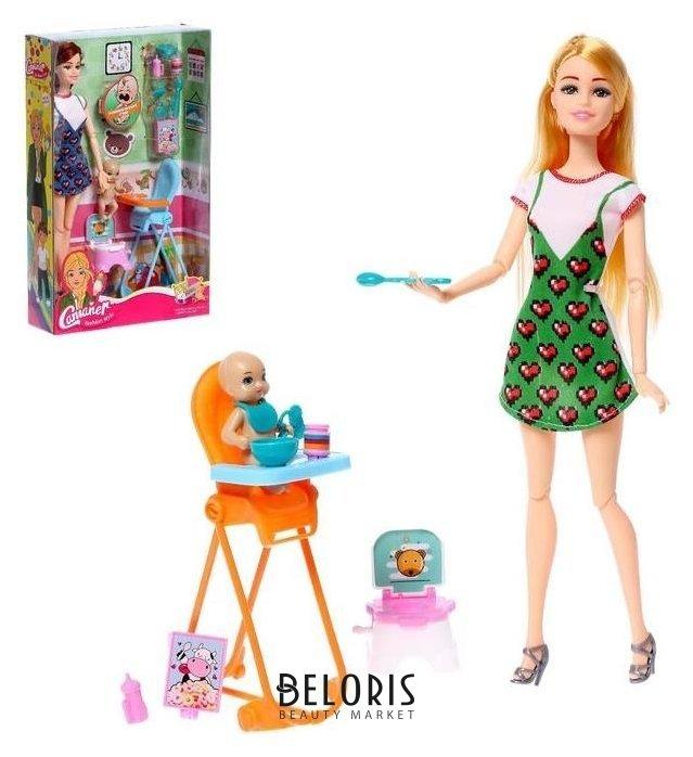 Кукла модель шарнирная «Анна» с малышом и аксессуарами NNB