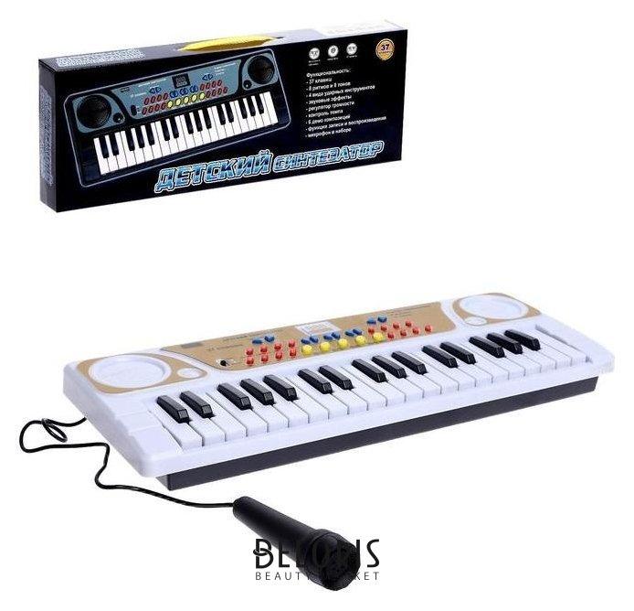 Синтезатор Детский, 37 клавиш, с микрофоном, цвет белый Zhorya