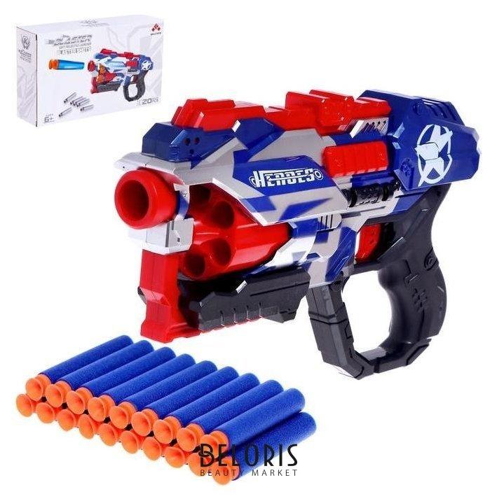 Бластер «Мститель», стреляет мягкими пулями, цвет бело-сине-красный NNB