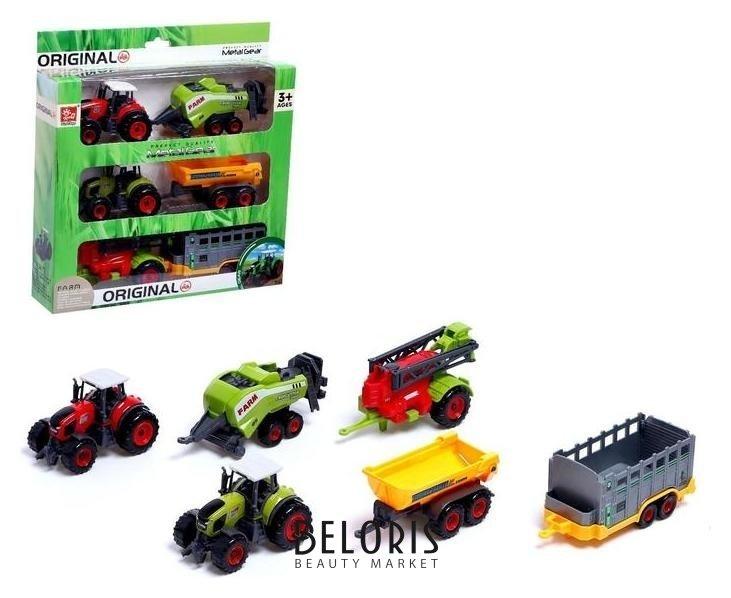Набор металлических тракторов «Ферма» NNB