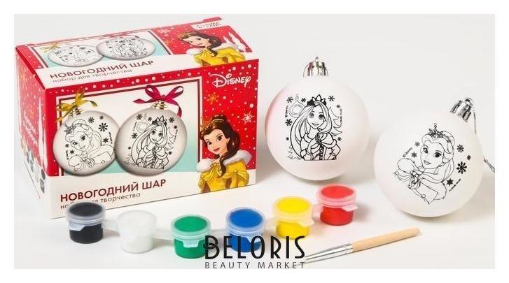 Набор для творчества Новогодний шар принцессы + краски, набор 2 шт Disney