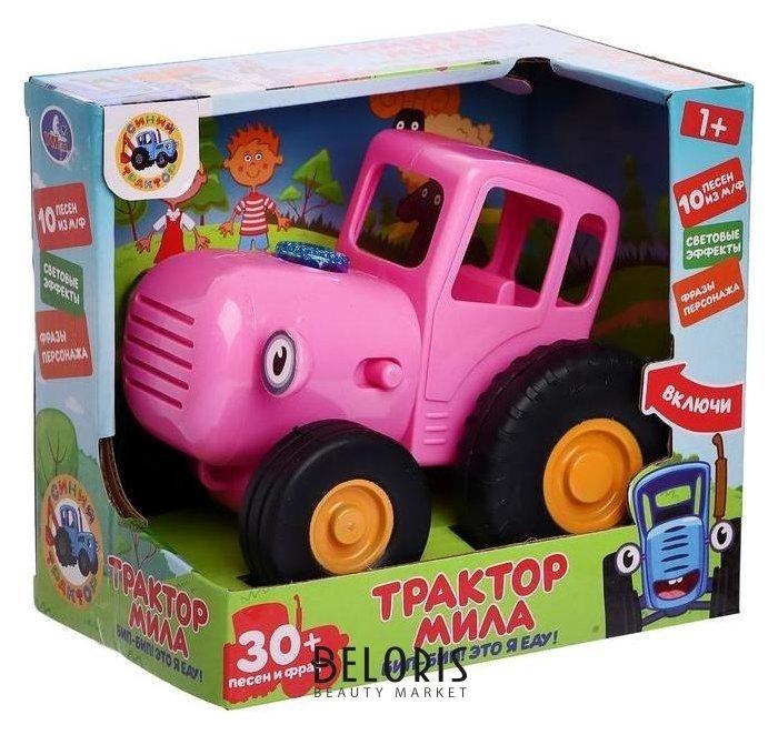 Каталка «Трактор мила» синий трактор, 30 песен, фраз героя, световые эффекты УМка