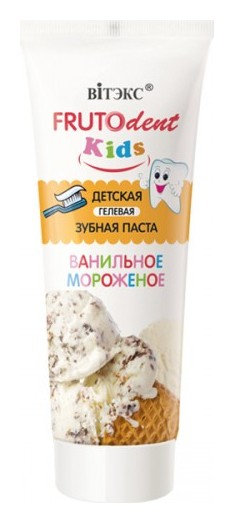 Детская гелевая зубная паста «Ванильное мороженое» без фтора Белита - Витекс  Frutto Dent Kids