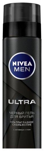 """Гель для бритья """"Ultra"""", с активным углем.  Nivea"""