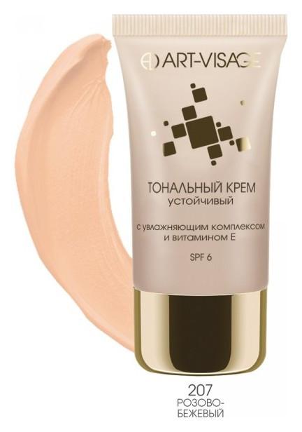 Устойчивый тональный крем с увлажняющим комплексом и витамином Е Тон 207 розово-бежевый