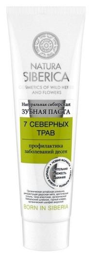 """Зубная паста """"7 северных трав""""  Natura Siberica"""