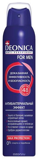 """Дезодорант-антиперспирант для мужчин """"Антибактериальный эффект""""  Deonica"""