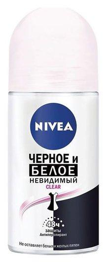 """Дезодорант шариковый """"Невидимая Защита для черного и белого -Clear""""  Nivea"""