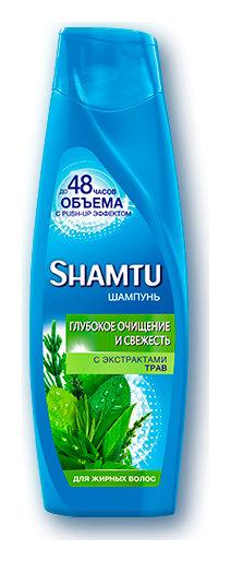 """Шампунь """"Травяной коктейль"""", для жирных волос  Shamtu"""