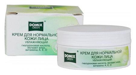Крем для нормальной кожи лица Увлажняющий с гиалуроновой кислотой, экстрактом алоэ, витаминами A, E, D  Domix Green Professional