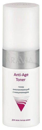 Тонер омолаживающий с ниацинамидом Anti-Age Toner  Aravia Professional