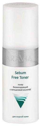 Тонер с салициловой кислотой Sebum Free Toner  Aravia Professional