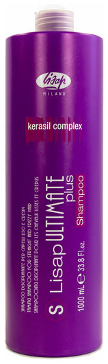 Шампунь с разглаживающим действием для гладких и вьющихся волос Ultimate  Lisap Milano