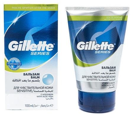 """Бальзам после бритья для чувствительной кожи """"Series""""  Gillette"""