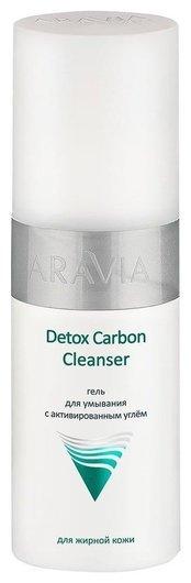 Гель для умывания с активированным углём Detox Carbon Cleanser  Aravia Professional