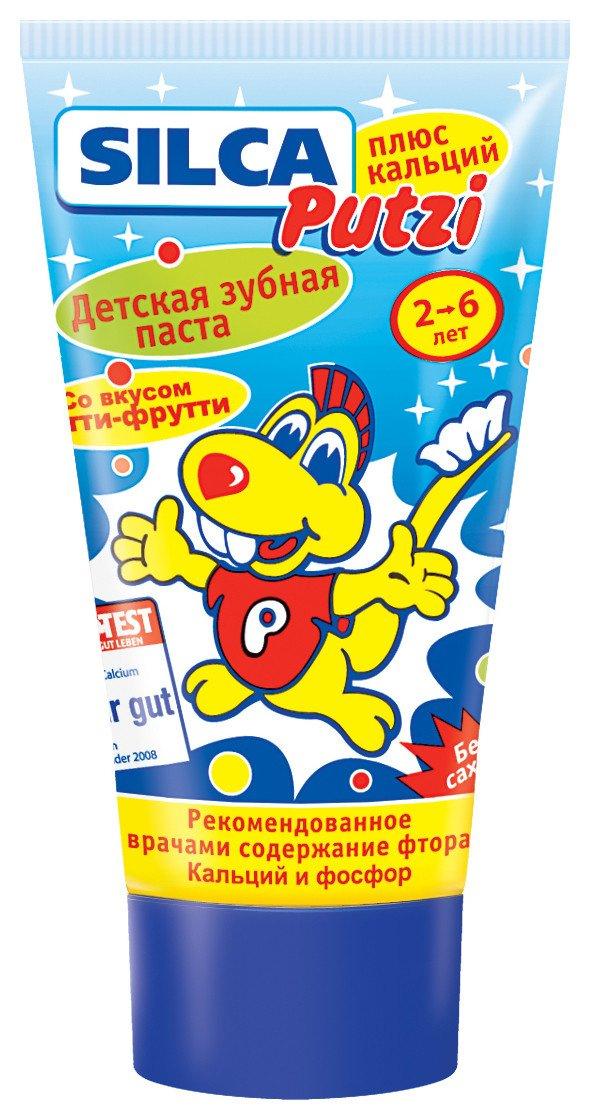 Зубная паста детская «Putzi» плюс Кальций  SILCA