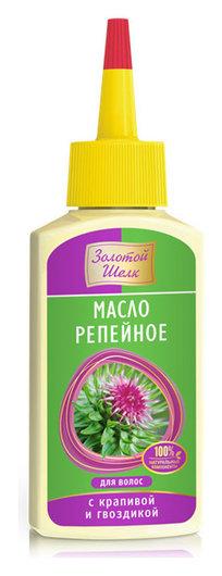 Репейное масло для волос с крапивой и гвоздикой  Золотой Шёлк