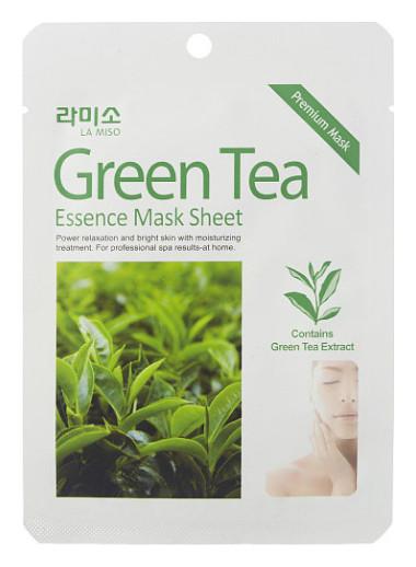Тканевая маска для лица с экстрактом зеленого чая Антиоксидантная La Miso Essence Mask Sheet