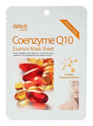 Тканевая маска для лица с экстрактом коэнзима Q10 La Miso Essence Mask Sheet