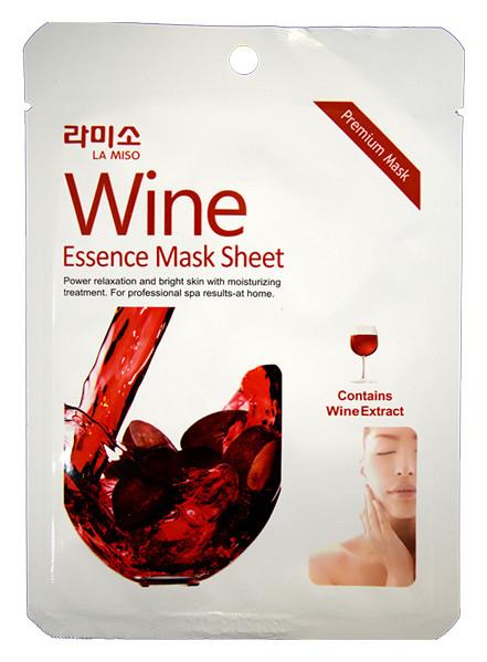 Тканевая маска для лица с экстрактом красного вина