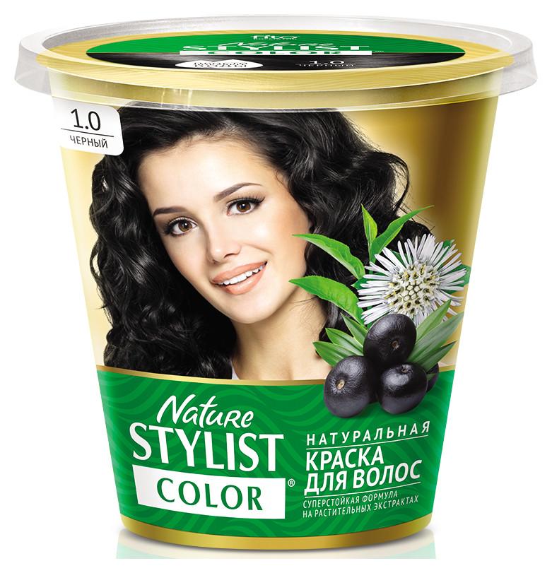 Натуральная краска для волос «Nature Stylist Color» Тон 1.0 Черный