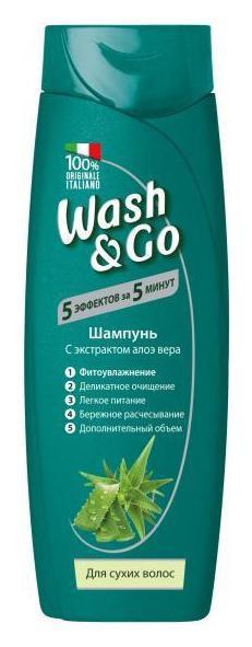 Шампунь для сухих волос с экстрактом алоэ вера  Wash & Go