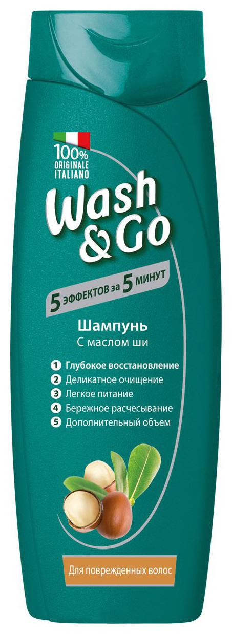 Шампунь с маслом ши для поврежденных волос  Wash & Go