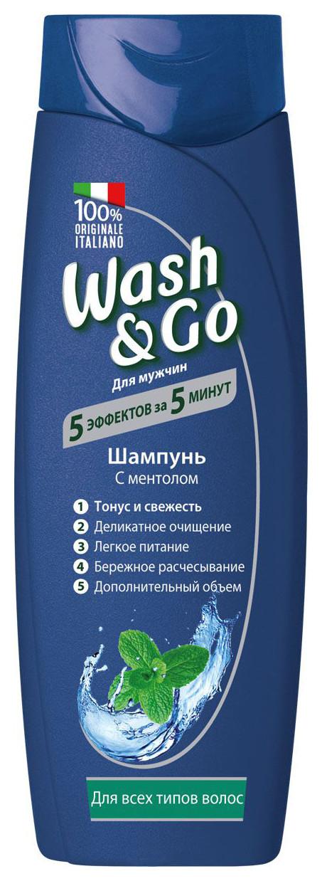 Шампунь с ментолом для всех типов волос  Wash & Go