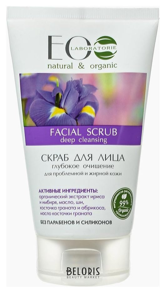 Купить Скраб для лица EcoLab, Скраб для проблемной и жирной кожи, Россия