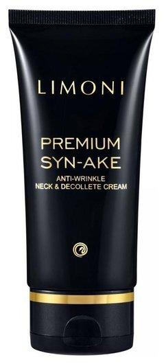 Антивозрастной крем для шеи и декольте со змеиным ядом Premium Syn-Ake Anti-Wrinkle Neck&Decollete Cream  Limoni