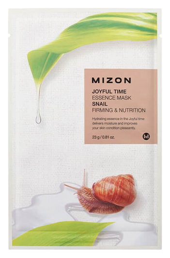 Тканевая маска Joyful Time Essence Mask - Snail  Mizon