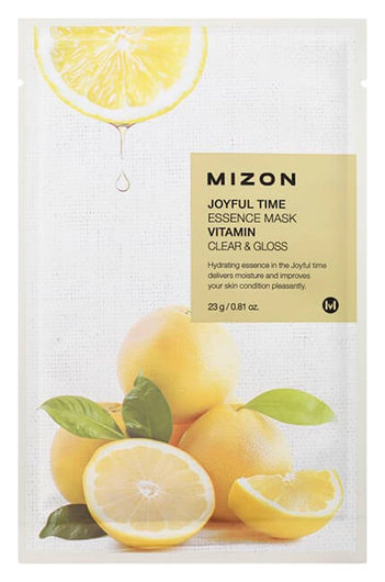 Тканевая маска Joyful Time Essence Mask - Vitamin C Mizon