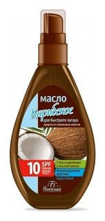 Масло для быстрого загара Карибское Пальмовый рай SPF10  Флоресан (Floresan)