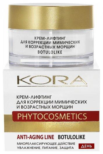 Крем-лифтинг для коррекции мимических и возрастных морщин  Kora