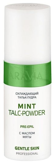 Охлаждающий тальк-пудра с маслом мяты Mint Talc-Powder  Aravia Professional