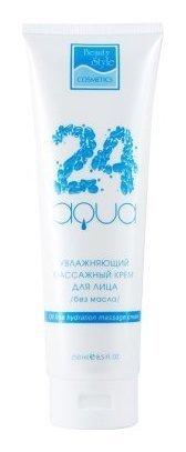 Увлажняющий массажный крем для лица, без масла «Аква 24»  Beauty Style