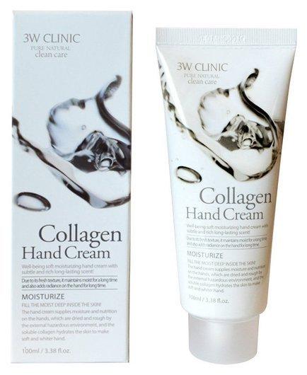 Крем для рук увлажняющий с коллагеном Moisturizing Collagen Hand Cream  3W CLINIC