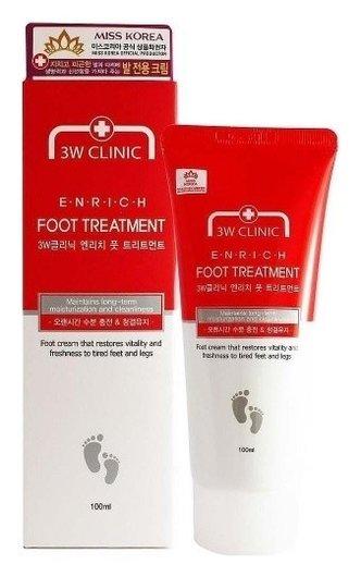 Крем для ног Увлажнение и Очищение  3W CLINIC