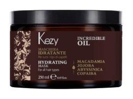 Маска увлажняющая и разглаживающая для всех типов волос incredible oil   Kezy