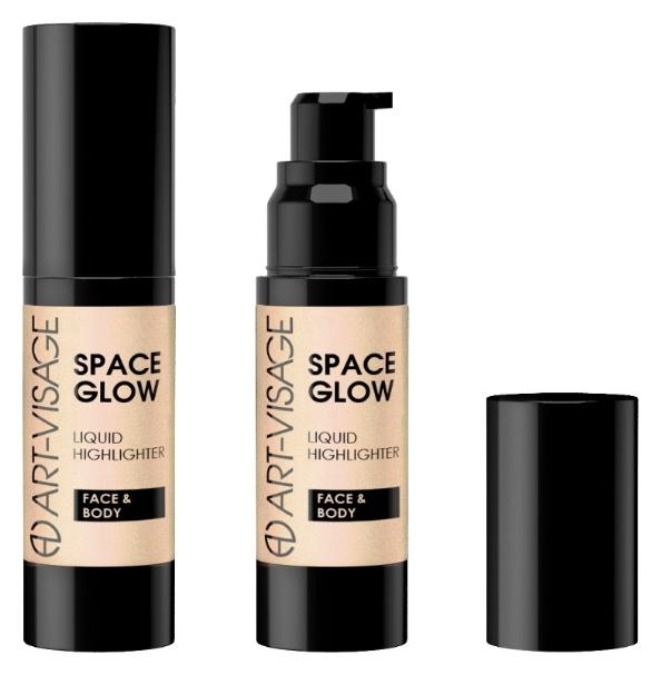 Хайлайтер для лица и тела жидкий Space Glow  Art visage (Арт визаж)