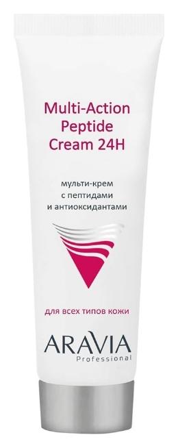 Мульти-крем для лица с пептидами и антиоксидантным комплексом Multi-Action Peptide Cream  Aravia Professional
