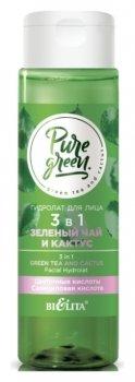 Гидролат для лица 3 в 1 «Зеленый чай и кактус»